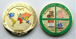 Geocaching - All In One GC 2008 Poliertes Gold -MIT GRAVUR-