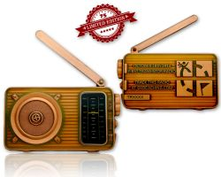 Radio Geocoin (ausklappbare Antenne) Antik Kupfer XLE 75