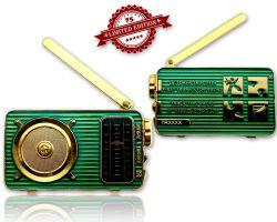 Radio Geocoin (ausklappbare Antenne) Poliertes Gold XLE 75