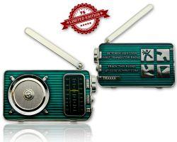 Radio Geocoin (ausklappbare Antenne) Poliertes Silber XLE 75