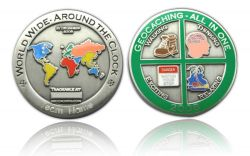 Geocaching - All In One 2008 Antique Silver -WITH ENGRAVING-