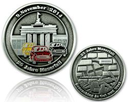 25 Years Fall of the Berlin Wall  Antique Silver RE