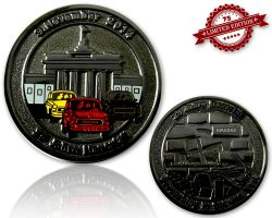 25 Years Fall of the Berlin Wall  Black Nickel XLE 75