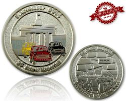 25 Years Fall of the Berlin Wall  Satin Silver XLE 75
