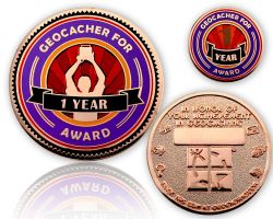 Geo Award Geocoin - 1 Jahr (inkl. Pin)