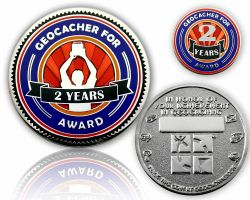Geo Award Geocoin - 2 Years (incl. Pin)