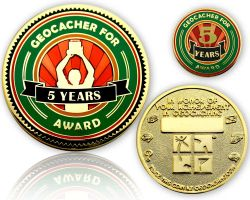 Geo Award Geocoin - 5 Years (incl. Pin)