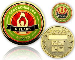 Geo Award Geocoin - 6 Years (incl. Pin)