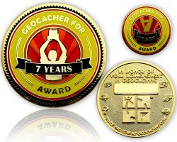Geo Award Geocoin - 7 Years (incl. Pin)