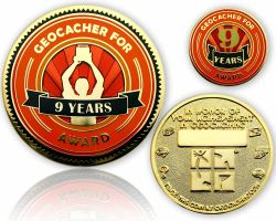 Geo Award Geocoin - 9 Years (incl. Pin)