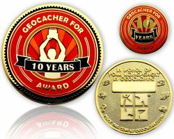 Geo Award Geocoin - 10 Years (incl. Pin)