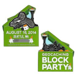Block Party Geocoin 2014 inkl. TAG