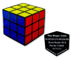Magic Cube Geocoin Classic Completed RE