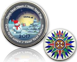Christmas 2017 - Snowman Geocoin with your Text