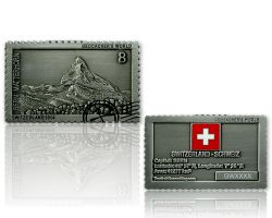 Geocacher's World Geocoin -SWITZERLAND- Antik Silber