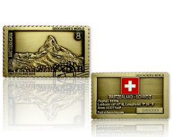 Geocacher's World Geocoin -SWITZERLAND- Antik Gold