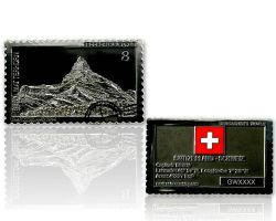 Geocacher's World Geocoin -SWITZERLAND- Black Nickel / Silber XL