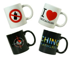 Present Geocaching Mugs (4 pieces)