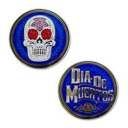 Day Of The Dead Geocoin - Blau/Gold