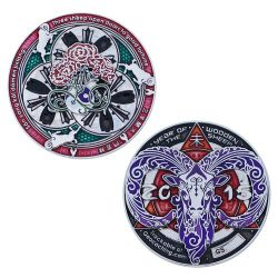 Year of the Sheep Geocoin Poliertes Silber