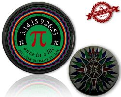Pi-Day Geocoin Black Nickel XLE 75