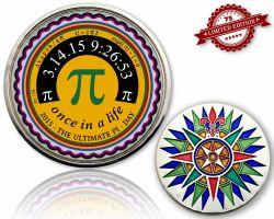 Pi-Day Geocoin Silber XLE 75