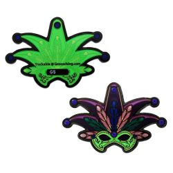 Mardi Gras Geocoin Black Nickel