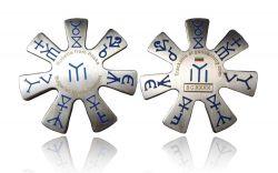 Bulgarian Mystic Geocoin Antik Silber