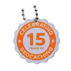 15 Jahre Geocaching Travel Tag