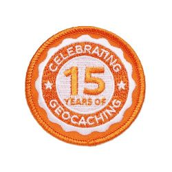 15 Jahre Geocaching Patch