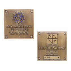 Blue Switch Geocoin LE
