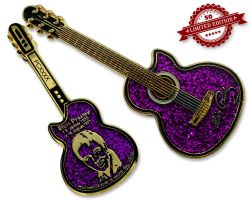 Elvis Guitar Geocoin - Purple Edition XLE 50
