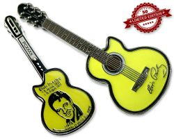 Elvis Guitar Geocoin - Glow Edition XLE 50