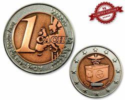 1 Cache Geocoin Silber/Kupfer XLE 75