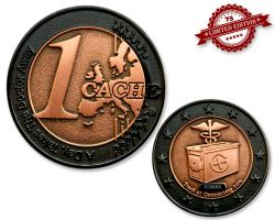1 Cache Geocoin Black Nickel/Kupfer XLE 75