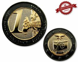 1 Cache Geocoin Black Nickel/Gold XLE 75