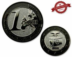 1 Cache Geocoin Black Nickel/Silber XLE 75