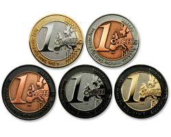 1 Cache Geocoin Sammler Set (5 Coins)