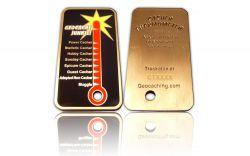 Cacher Thermometer Geocoin Antik Gold