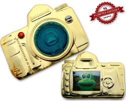 GeoCam Geocoin GOLD FLASH XLE 75