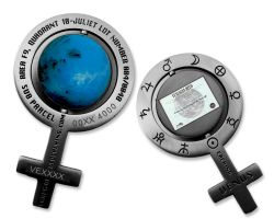 Caching on the Venus Geocoin Antique Silver (incl. Venus Land)