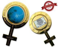 Caching on the Venus Geocoin Pol Gold XLE 75 (incl. Venus Land)