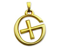 GeoSchmuck Geocaching Logo Matt Gold