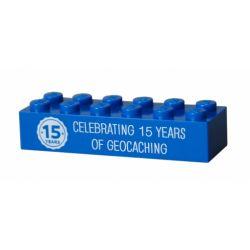 15 Jahre Geocaching trackbarer LEGO? Stein Blau