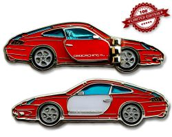 Turbo 911 Geocoin - Velvet Red LE 100
