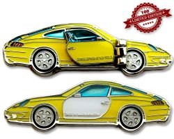 Turbo 911 Geocoin - Fly Yellow LE 100