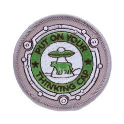 Geocaching Road Trip '15 Patch: Put on Your Thinking Cap
