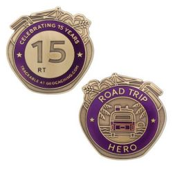 Road Trip 2015 - Hero Geocoin