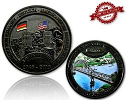 Remagen Geocoin Black Nickel LE 100