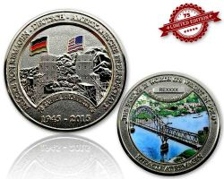 Remagen Geocoin Polished Silver XLE 75